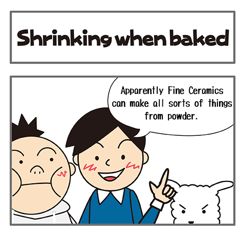 Shrinking when baked