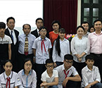 Photo:KYOCERA Holds Ceremony for Children to Participate in the Japan Study Tour