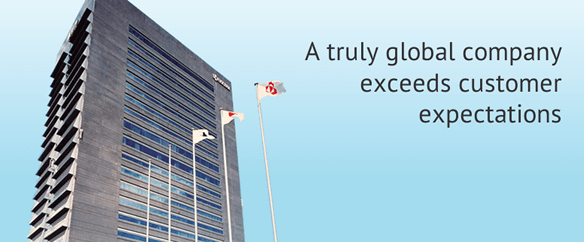 A Truly global company exceeds customer expectations
